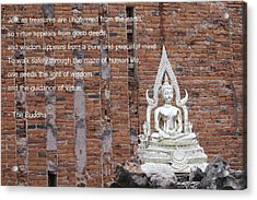 Wisdom And Virtue Acrylic Print by Gregory Smith