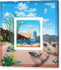 Wish You Were Here Acrylic Print by Snake Jagger