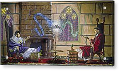 Wizards Duel Acrylic Print by Jeff Brimley