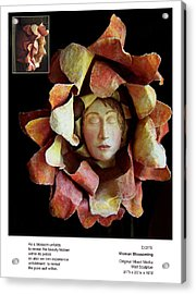 Woman Blossoming Acrylic Print by Beverly Barris