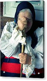 Woman From Maramures  Acrylic Print by Emanuel Tanjala