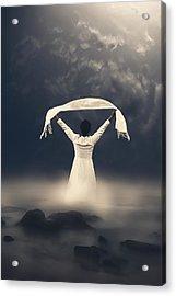 Woman In Water Acrylic Print by Joana Kruse