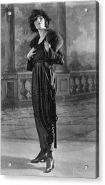 Woman Modeling Dress, A Frock Of Moon Acrylic Print by Everett