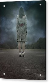 Woman On Street Acrylic Print by Joana Kruse