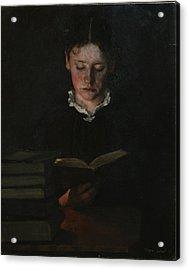 Woman Reading Acrylic Print by Signe Scheel