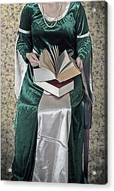 Woman With A Book Acrylic Print by Joana Kruse