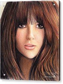 Woman With Brown Hair Acrylic Print by Muna Abdurrahman