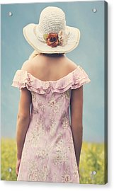 Woman With Hat Acrylic Print by Joana Kruse