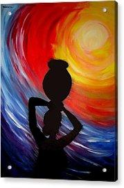 Woman With Pitcher Acrylic Print by Shakhenabat Kasana