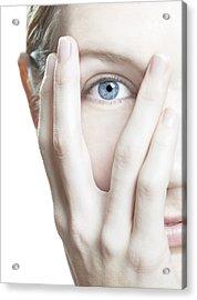 Woman's Eye Acrylic Print by