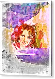 Woman's Soul Part 2 Acrylic Print by Mo T