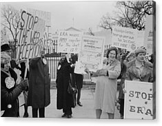 Women Demonstrating Against The Federal Acrylic Print by Everett