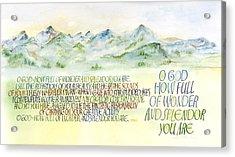 Wonder Splendor II Acrylic Print by Judy Dodds