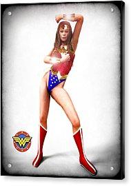 Wonder Woman Acrylic Print by Frederico Borges