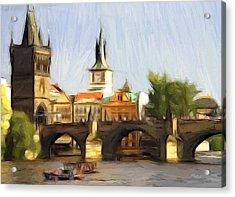 Wonderful Prague Acrylic Print by Steve K