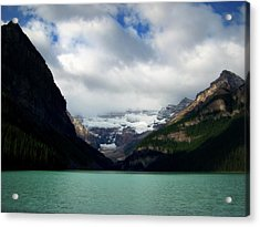 Wonderland Of Lake Louise Acrylic Print by Karen Wiles