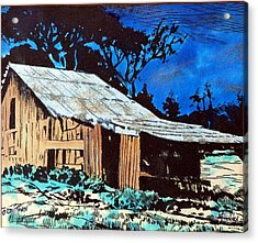 Wood Shed Acrylic Print by Mike Holder