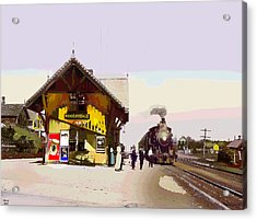 Woodridge Depot Acrylic Print by Charles Shoup