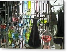 Working Laboratory Acrylic Print by Kantilal Patel