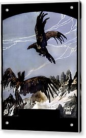 World War I, Italian Eagle Attacking Acrylic Print by Everett