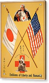 World War I, Poster Showing Two Red Acrylic Print by Everett