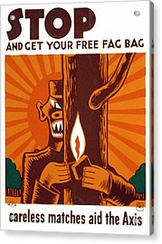 World War II, Poster Encouraging Use Acrylic Print by Everett