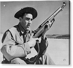 World War II, U.s. Soldier Ready Acrylic Print by Everett