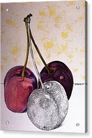 Worldview Cherries Acrylic Print by D K Betts