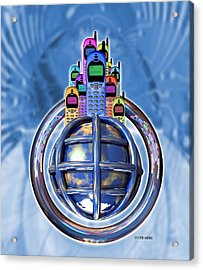 Worldwide Mobile Telephone Use Acrylic Print by Victor Habbick Visions