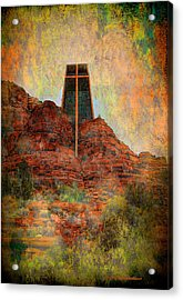Worship In Sedona Acrylic Print by Dale Stillman