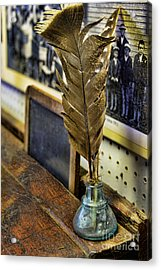 Writer - Quill And Ink Acrylic Print by Paul Ward