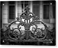 Wrought Iron Detail Acrylic Print by Perry Webster