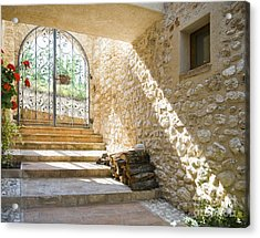 Wrought Iron Gate And Stairs Acrylic Print by Andersen Ross