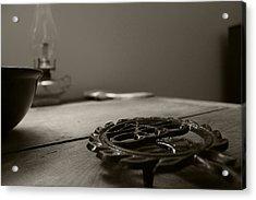 Wrought Iron Trivet Acrylic Print by Scott Hovind