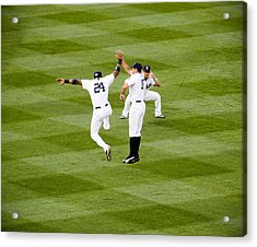 Yankee High Five Acrylic Print by Christopher McPhail
