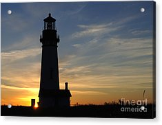 Yaquina Lighthouse Acrylic Print by Bob Christopher