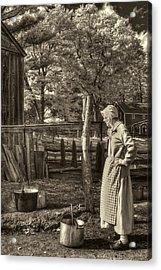 Yarn Dyeing Acrylic Print by Joann Vitali