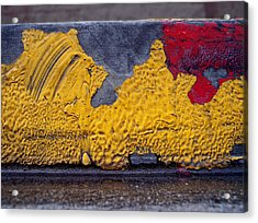 Yellow Brushes Acrylic Print by Ludmil Dimitrov