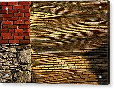 Yellow Roof Acrylic Print by Matt  Trimble