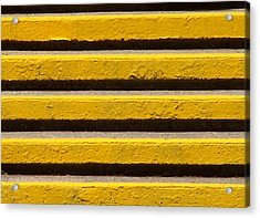 Yellow Steps Acrylic Print by Steven Huszar