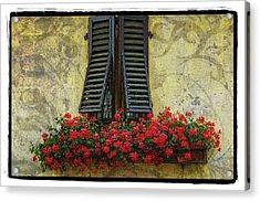 Yellow Wall Acrylic Print by Mauro Celotti