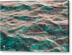 Yellowstone Abstract Acrylic Print by Cindy Lee Longhini