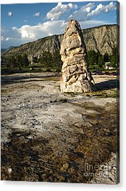 Yellowstone National Park - Mammoth Hot Springs Acrylic Print by Gregory Dyer