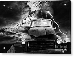Yesterday Came Early . Tomorrow Is Almost Over . Bw Acrylic Print by Wingsdomain Art and Photography