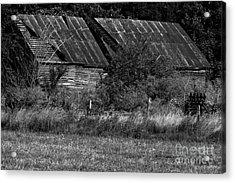 Yesterday's Barn Acrylic Print by Alan Look