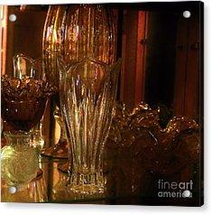 Yesturdays Glass Collection Acrylic Print by Marsha Heiken