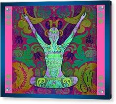Yoga Card Acrylic Print by Dana Vogel