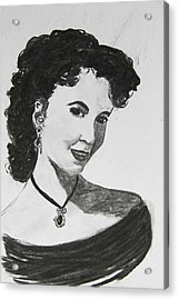 1950s Portraits Acrylic Print featuring the digital art Young Actress by Serene Maisey