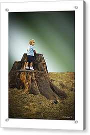 Young Boy Acrylic Print by Brian Wallace