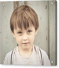 Young Boy Acrylic Print by Tom Gowanlock